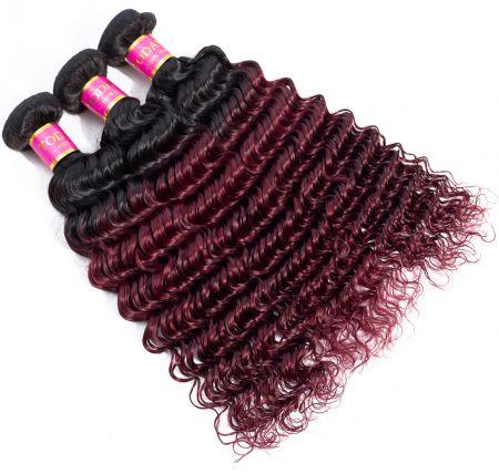 Today Only Hair Ombre Peruvian Virgin Hair 1b/99j Color Peruvian Deep Wave 4 Bundles Human Hair Weave