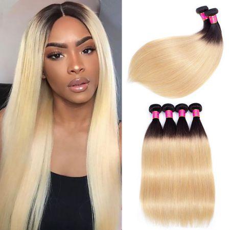 Today Only Hair Peruvian Straight Hair 3pcs Tone 1b 27 Hair Weaving Ombre Human Hair Bundles