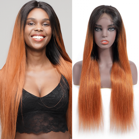 Today Only Hair 10A Ombre 1b/30 Brazilian Straight 4x4 Wigs Lace Closure Human Hair Wigs For Black Women Virgin Hair Straight Wigs