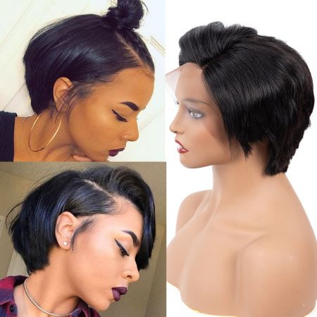 Today Only Hair Bob Short Virgin Hair Straight Lace Frontal Human Hair Wigs For Black Women 13x4 Short Human Hair Lace Frontal Wig