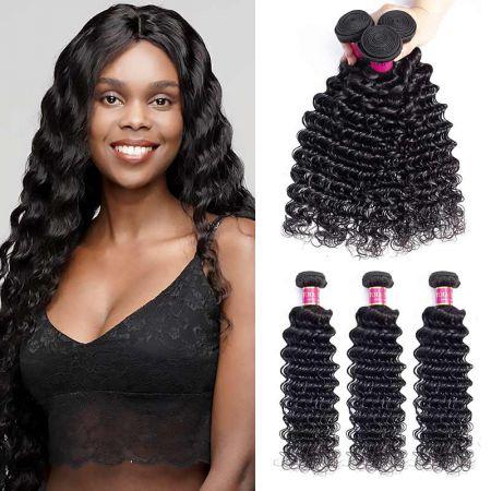 Today Only Hair Virgin Hair Deep Wave 3 Bundle Cheap 100% Human Hair Weave Extensions