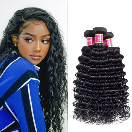 Today Only Hair Virgin Hair Deep Wave 3 Bundle Cheap 100% Human Hair Weave Extensions