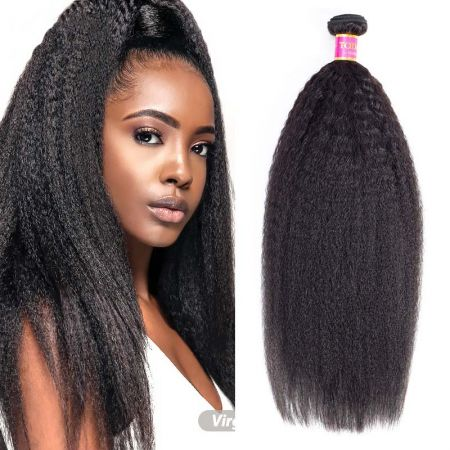 Today Only Hair Peruvian Virgin Hair Yaki Straight Weave Bundles Peruvian Human Hair 3 Bundles Kinky Straight Hair Extensions