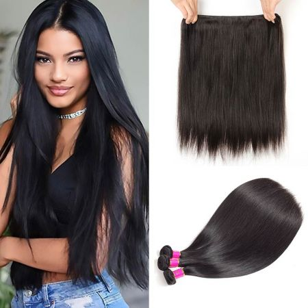 Today Only Hair Virgin Hair Straight 4 Bundle Deals Unprocessed Human Hair Weave