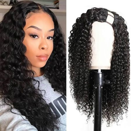 Today Only Hair Kinky Curly U Part Wig Unprocessed Virgin Human Hair Wigs